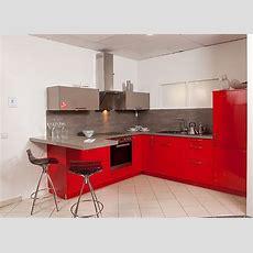 Elementamusterküche Moderne Rot + Basaltgrau Glänzende