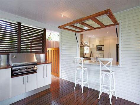 door   breakfast servery window kitchen bar design