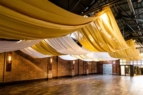 How To Hang Ceiling Drapes For Events - ceiling decor wedding chandeliers event decor direct