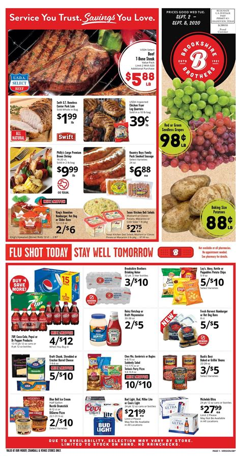 brookshire brothers weekly ad sep  sep