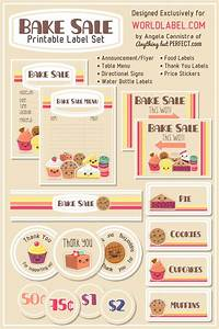 Free bake sale printables free printables so cute and labels free for Bake sale labels