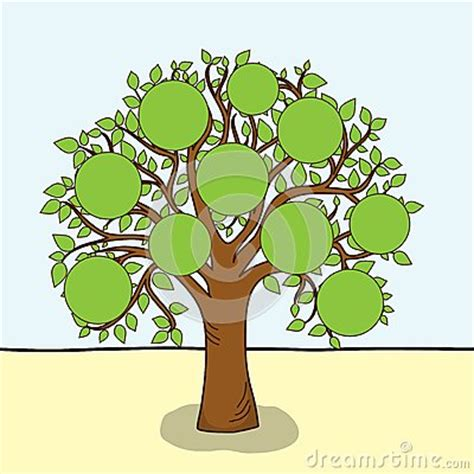 family tree vector stock images image
