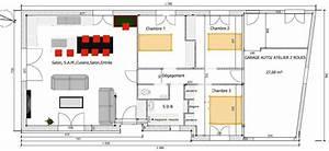 petite maison 3 chambres 885m2 garage cellier rt2012 With plan petite maison 3 chambres