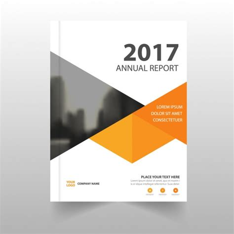 report template  geometric shapes vector