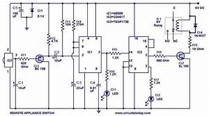 Remote Controlled Switch Circuit For Appliances