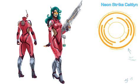 Neon Strike Caitlyn Concept By Xelandra On Deviantart