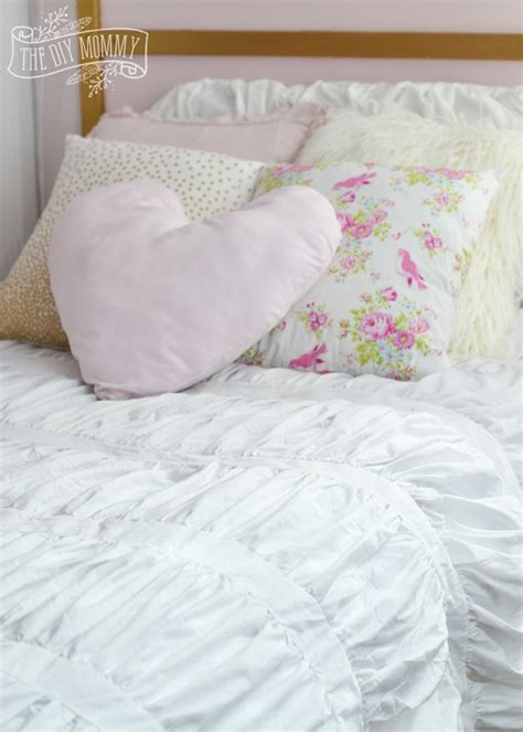 shabby chic bedding diy make shabby chic glam kids bedding little c s bedroom makeover progress for the orc the