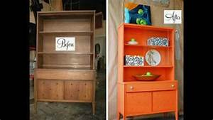 Before and after furniture makeover ideas - YouTube