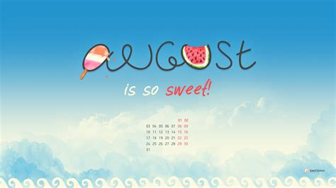 August Desktop Wallpaper | PixelsTalk.Net