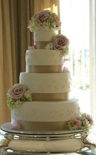ivory  champagne wedding cake ivory buttercream