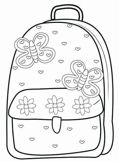 Coloring Pages Supplies Backpack Bag Egg Dinosaur