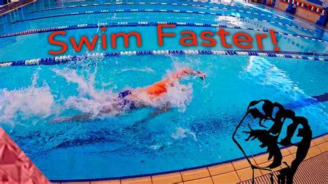 swimming faster exercises swim speed freestyle improve sprint drills