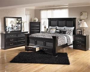 Sandberg elena 33412f 33412h 33462r black queen size wood for Black bedroom furniture decorating ideas 2