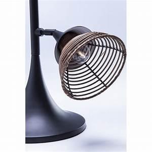 Kare Design Lampe : lampe de table industrielle rattan kare design ~ Orissabook.com Haus und Dekorationen