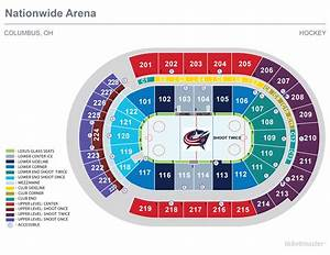 Nationwide Arena Seating Chart View Seating Charts Nationwide Arena
