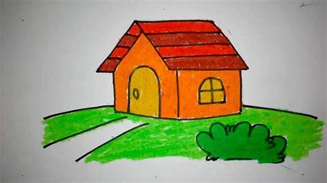 contoh gambar mewarnai gambar rumah kebanjiran