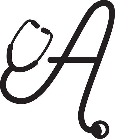 nurse stethoscope letter stethoscope alphabet car decal etsy letter decals stethoscope