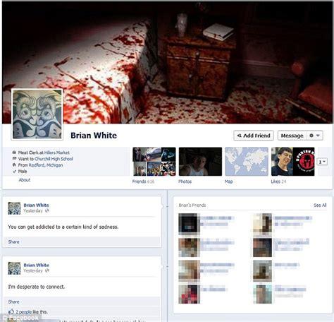 brian douglas white facebook boasts  american psycho