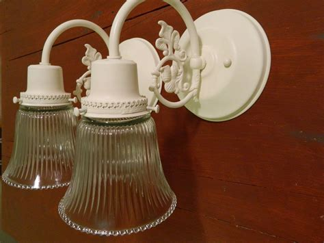 Shabby Chic Bathroom Light Fixtures by Upcycled Pair Of Shabby Chic Ornate Wall Sconces