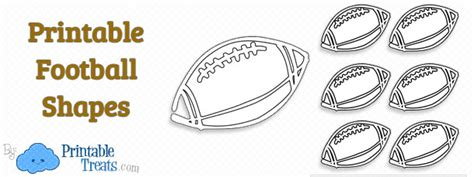 printable football shapes printable treatscom