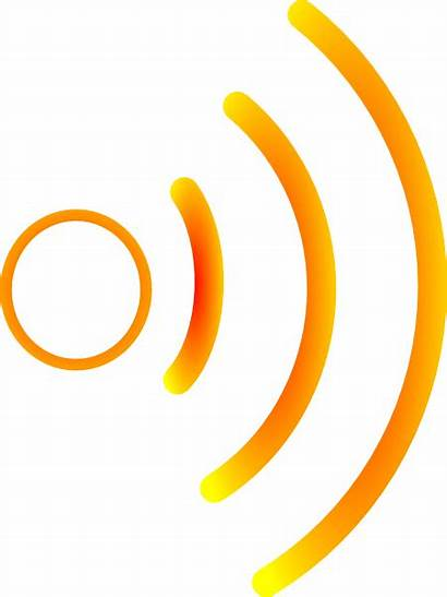 Waves Radio Clip Clipart Yellow Sound Wave