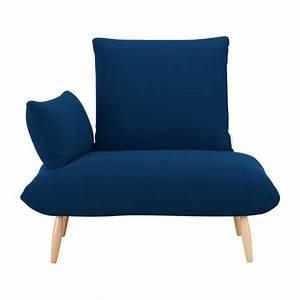 Fauteuil Bleu Marine : naoko fauteuils fauteuil bleu marine tissu habitat ~ Teatrodelosmanantiales.com Idées de Décoration
