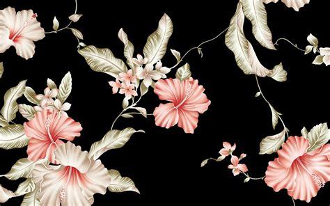 hibiscus pattern wallpaper