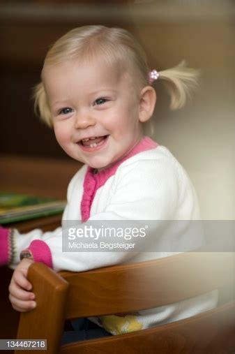 Blonde Girl Year Old Stock Photo Getty Images