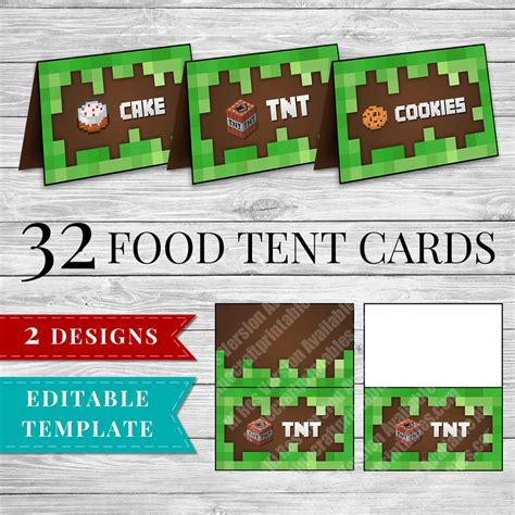 printable minecraft food labels minecraft printable