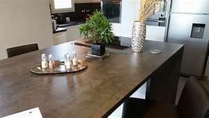 Plan De Travail Céramique : plan de travail en ceramique plan de travail cuisine ~ Dailycaller-alerts.com Idées de Décoration