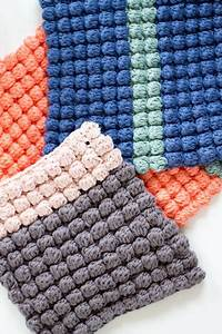Wolle Für Topflappen : topflappen im bobbelmuster h keln topflappen h keln ~ Watch28wear.com Haus und Dekorationen