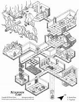 Dungeon Map Maps Isometric Drawing Fantasy Rpg Lair Dnd Dungeons Climbing Dragons Mountains Trapdoor Weebly Beholder Dragon Copy Layout Floor sketch template