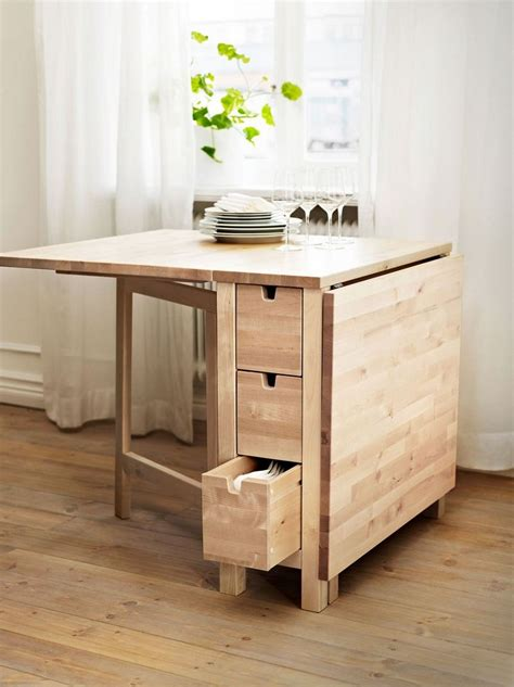 table de cuisine pliante ikea table gain de place 55 idées pliantes rabattables ou