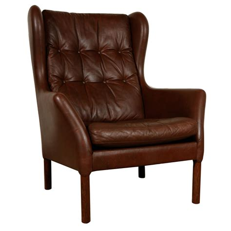 wingback chair vintage leather wingback chair at 1stdibs