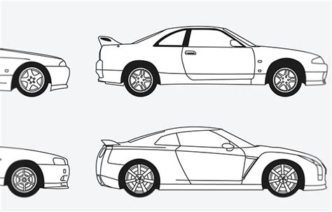 nissan skyline drawing outline nissan skyline line drawing