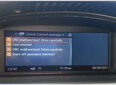 2008 BMW m3 DSC MALFUNTION DBC MALFUNCTION