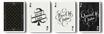 Cards Playing Typography Deck Clubs Vector Type