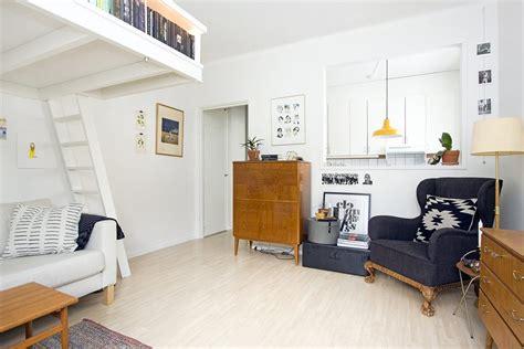 Tiny Scandinavian Studio Loft by Small Swedish Studio Apartment Elegantly Combines Loft Bed