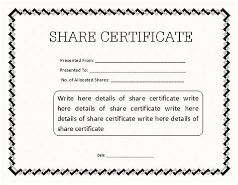 Stock Certificate Template by 21 Stock Certificate Templates Psd Vector Eps