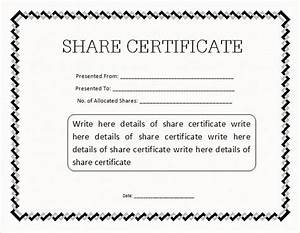 share stock certificate template 21 free word pdf With company share certificate template