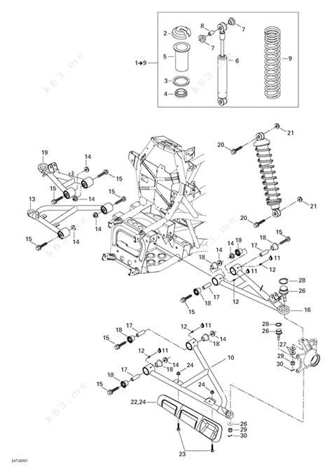 bombardier  quest  front suspension parts catalog