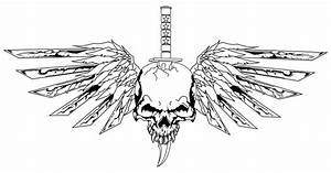 Skull with wings by CrashJensen on DeviantArt