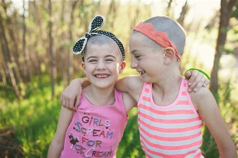 sisters    shave  heads  kids  cancer