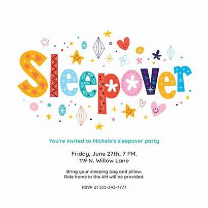 Sleepover Party Invitations Invitation Slumber Template Templates