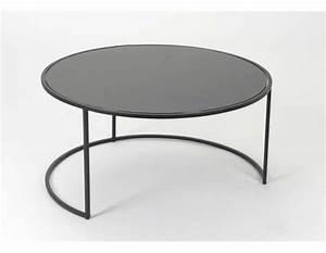 Table Basse Metal Ronde : table basse noire ronde design en image ~ Teatrodelosmanantiales.com Idées de Décoration
