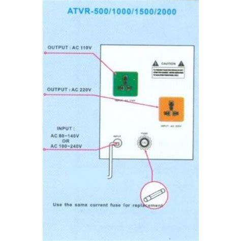 seven 500 watts deluxe automatic voltage regulator converter transformer 110220volts
