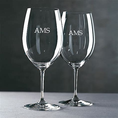 Personalized Barware Glasses - personalized riedel vinum cabernet merlot bordeaux wine