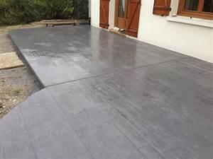 style exterieur reims beton empreinte With beton de couleur exterieur