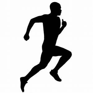 Clipart running man silhouette