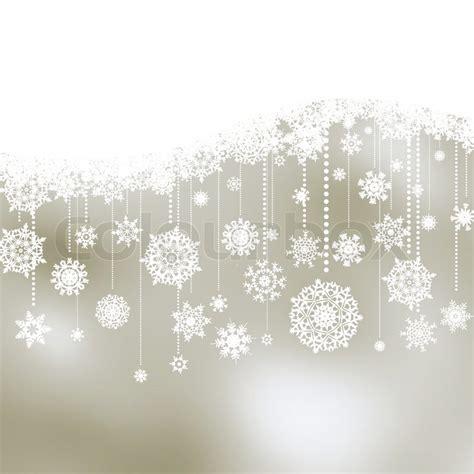 weihnachten hintergrund mit schneeflocken vektorgrafik